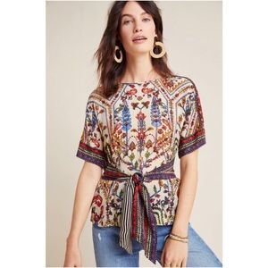 Vineet Bahl for Anthropologie Meknes Blouse NWT M